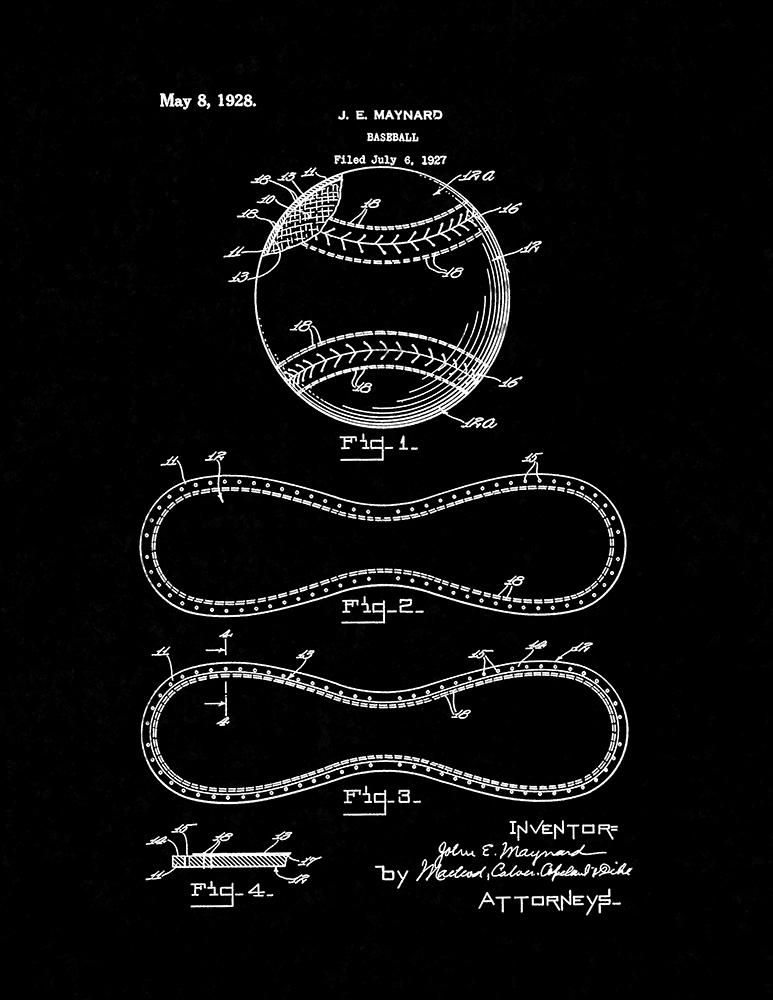 Baseball patent print poster item10138 frame a patent baseball patent print malvernweather Gallery
