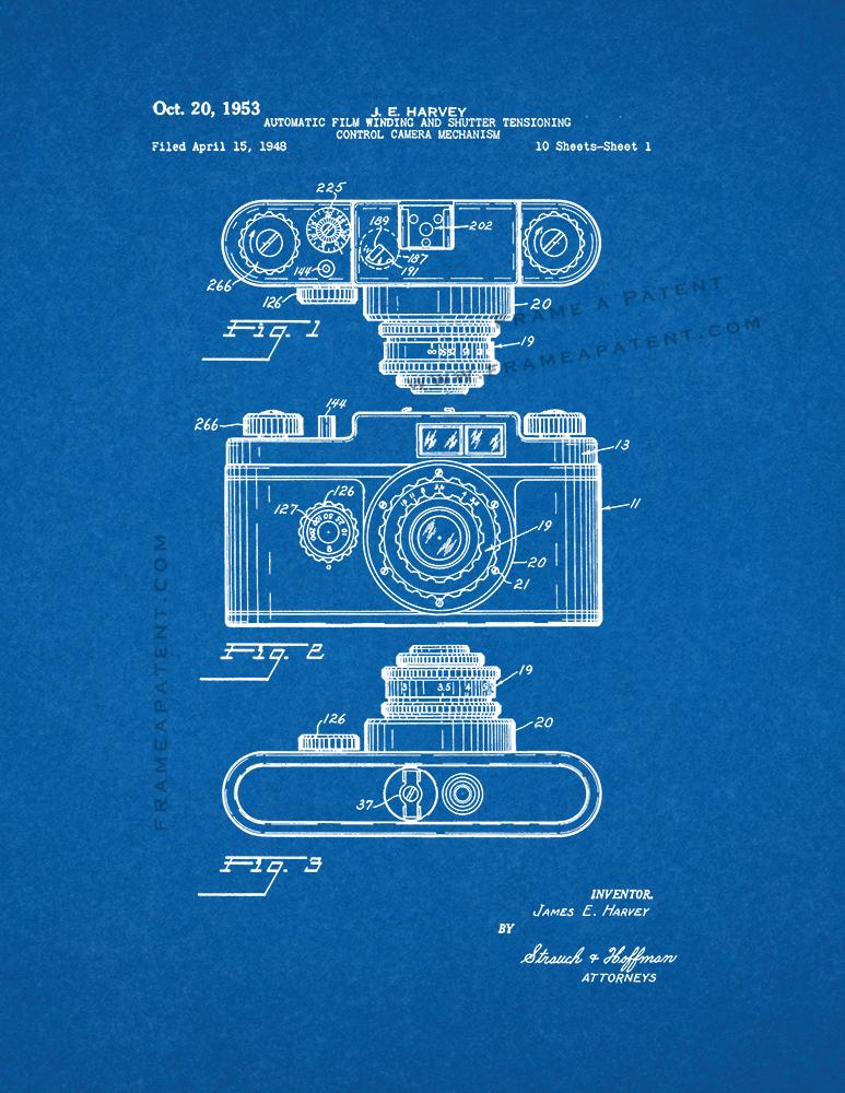 Automatic film winding and shutter tensioning control camera automatic film winding and shutter tensioning control camera mechanism patent print malvernweather Images