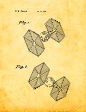 Star Wars TIE Fighter Patent Print