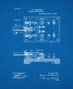 Electric Snap Switch Patent Print