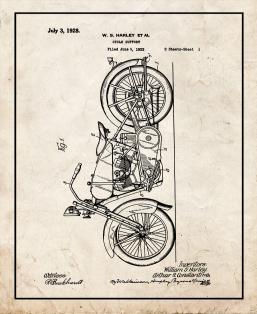 Harley Cycle Support Patent Print