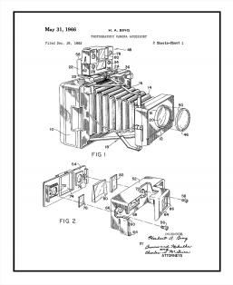 Photographic Camera Accessory Patent Print