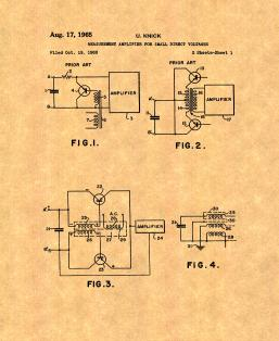Amplifier For Small Direct Voltages Patent Print