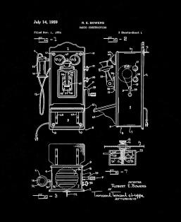 Telephone - Radio Construction Patent Print