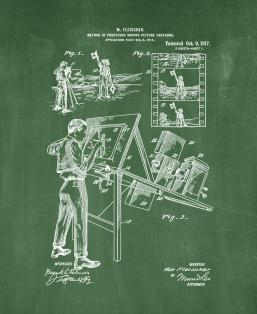 Producing Moving-picture Cartoons Patent Print