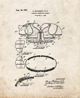 Football Protective Harness Patent Print