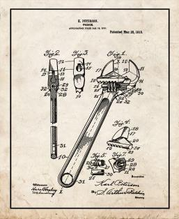 Wrench Patent Print