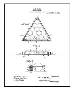 Poolball Frame Patent Print