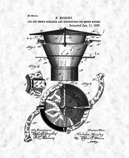 Air And Smoke Spreader For Smoke Houses Patent Print