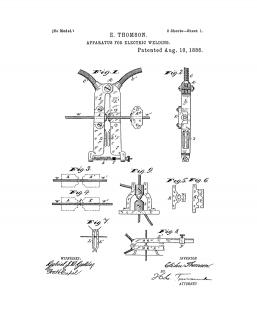 Apparatus For Electric Welding Patent Print