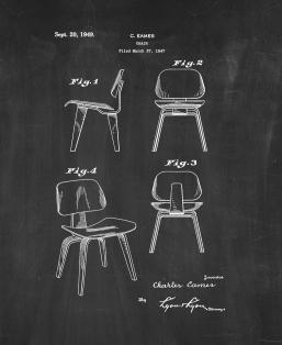 Chair Patent Print