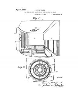 Car Compartment Illuminating Ventilating Patent Print