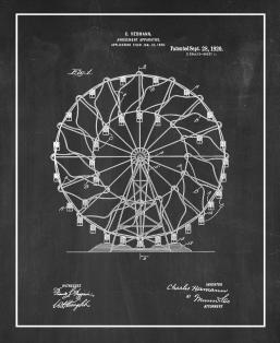 Amusement Apparatus Patent Print