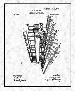 Electric Railway Patent Print