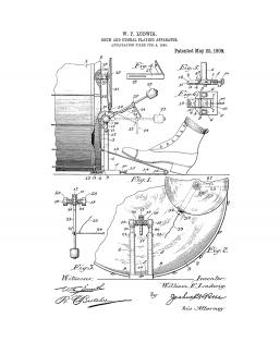 Drum And Cymbal Playing Apparatus Patent Print