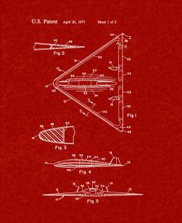 Aircraft Of Low Observability Patent Print