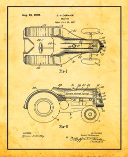 Tractor Patent Print