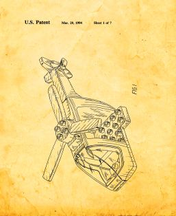 Lego Toy Helicopter Patent Print