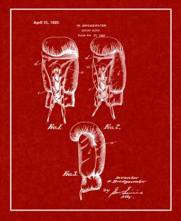 Boxing Glove Patent Print