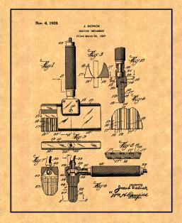 Shaving Implement Patent Print