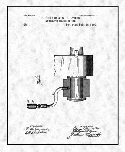 Automatic Oiling Device Patent Print