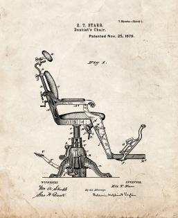 Dentist's Chair Patent Print