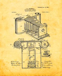 Photographic Camera Patent Print