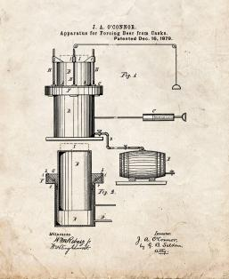 Apparatus For Forcing Beer From Casks Patent Print