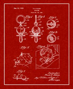 Baby Pacifier Patent Print