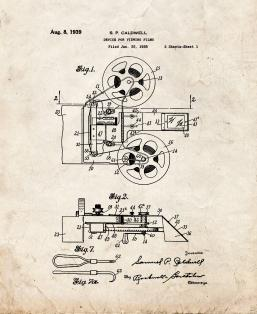 Device For Viewing Films Patent Print