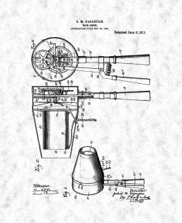 Hair Drier Patent Print
