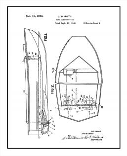 Boat Construction Patent Print