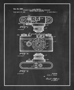 Automatic Film Winding And Shutter Tensioning Control Camera Mechanism Patent Print