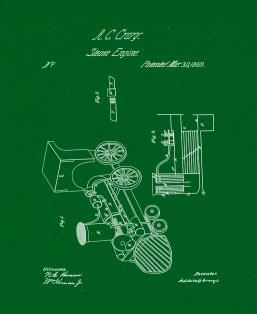 Improved Steam-engine Patent Print