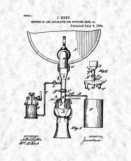Apparatus for Bottling Beer Patent Print