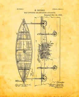 Boat Lowering And Detaching Apparatus Patent Print