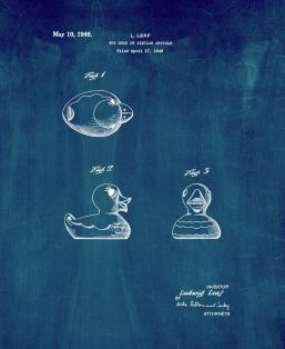 Rubber Duck Patent Print
