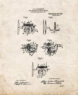 Bait-casting Reel Used In Angling Patent Print