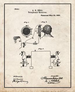 Telephonic Receiver Patent Print