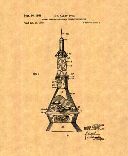 Aerial Capsule Emergency Separation Device Patent Print