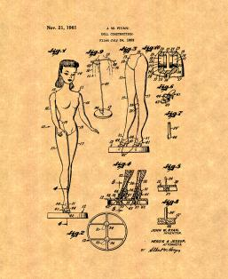 Barbie Doll Patent Print