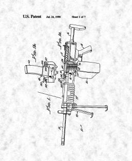 Convertible Belt/Clip-Fed Automatic Gun With Positive Shell Casing Ejection Patent Print