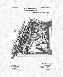 Calculating Machine Patent Print