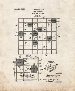 Scrabble Game Patent Print