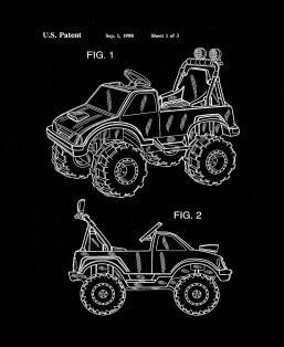 Children's Ride-On Toy Vehicle Patent Print