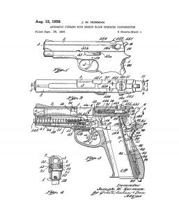 Automatic Firearm With Breech Block Operated Disconnector Patent Print