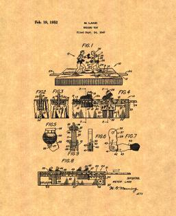 Boxing Toy Patent Print