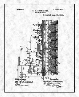 Brewing Beer Patent Print