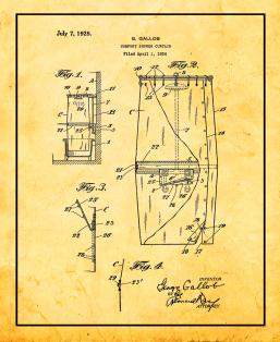 Comfort Shower Curtain Patent Print