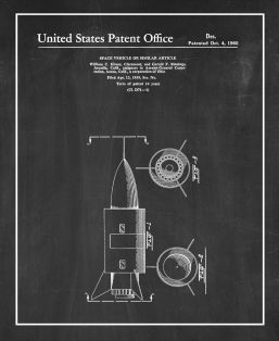 Space Vehicle Patent Print